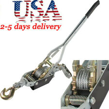 4 Ton 8,000lb Hand Puller Come Along Cable Hoist Hook 8000Lb Heavy Duty Fda