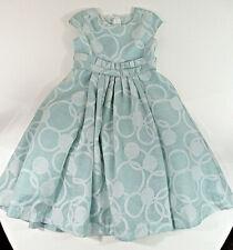 ISOBELLA & CHLOE Dress Girls Sz 4T Aqua Full Skirt Bow Tie Sleeveless Dressy