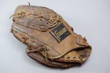 """Franklin 1166 12.5"""" Vintage Baseball Glove Leather Laced The Backhander LHT"""