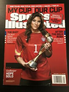 2015 Sports Illustrated Hope Solo World Cup Soccer USWNT NO LABEL Minor Damage