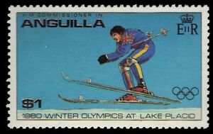 "ANGUILLA 379 (SG393) - Lake Placid Olympics ""Giant Slalom"" (pf4885)"