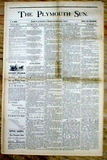 1879 newspaper wth FAKE REPORT of the shooting DEATH Missouri outlaw JESSE JAMES