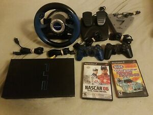 Sony PlayStation 2 PS2 Original Fat Console Bundle, Controllers Racer  Lot RaRe