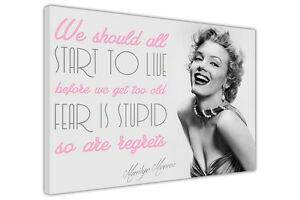 MARILYN MONROE PICTURES LIVE QUOTE CANVAS WALL ART DECORATION PRINTS PHOTOS
