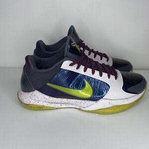 Nike Zoom Kobe V 5 Chaos Joker Mens Size 11 Blue White 386429-531 Athletic Shoes