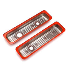 Trans Dapt Valve Cover Cap Set 9983; Orange Centerbolt Steel for Chevy 5.0/5.7L