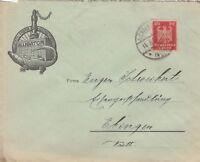 GIENGEN, Briefumschlag 1924, Ventil-Fabrik Alligator