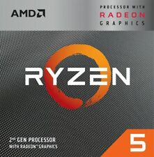 AMD - Ryzen 5 3400G 3rd Generation 4-Core - 8-Thread - 3.7 GHz (4.2 GHz Max B...