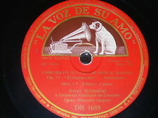 PIANO 4 x 78 rpm RECORDS VsA ARTUR SCHNABEL Emperor Concerto BEETHOVEN Sargent