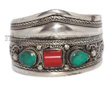 Turquoise Bracelet Coral Bracelet Cuff Bracelet Tribal Bracelet Boho Bracelet