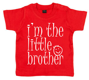 "SALE ITEM Red T-Shirt 2/3 yrs ""I'm the Little Bro"" End of Line item."