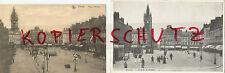 "2 Postkarten ""Douai - Place D'Armes mit Straßenbahnen - alte Motive"""
