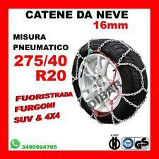 Kawin Catene da Neve OMOLOGATE 275 40 19 V5117 16mm 275//40-19 R19 SUV 4x4