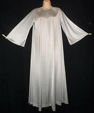 Vtg VANITY FAIR Nightgown Long Sleeves Antron III nylon Silver Grey/gray P S M