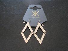 KIM KARDASHIAN Womens Gold Plated Diamond Hinged Earrings KK Jewellery BNWT
