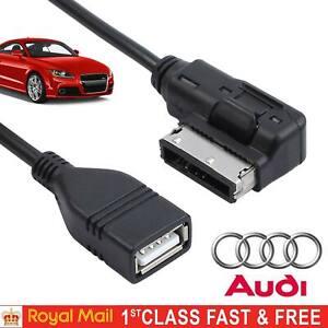 AUDI VW Music Interface MDI MMI AMI to USB Cable Data Sync Charging Adapter UK