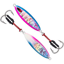 1PC Metal Jig Fishing Lure 80-150g Slow Jigging Big Game Hard Bait Tuna Kingfish