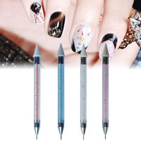 Nail Art Dual Ended Wax Rhinestone Gem Crystal Picker Pencil Pick up Pen Tool