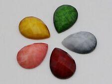 50 Mixed Color Flatback Resin TearDrop Cabochon Gems 13X18mm Imitation Gemstone