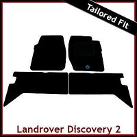 Land Rover Discovery 2 L318 1998-2004 Tailored Carpet Car Floor Mats BLACK