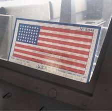 (1 stuks) 1944 USA voertuig voorruit WADE CARD (Size 8,25x4,25) D'Day Invasie