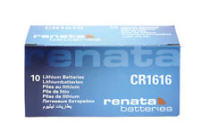 10 x Renata CR1616 Batteries, Lithium Battery 1616 | Shipped from Canada