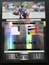 TODD HEAP 2011 TOOLS OF THE TRADE 5 COLOR DUAL GAME WORN JERSEY PATCH CARD #/10