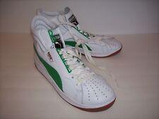 NWOB PUMA HI TOP Men's White/Green Leather Sneaker Shoes US Sz 10M