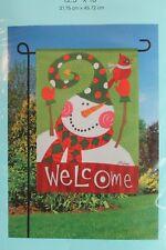 Meadow Creek Decorative Outdoor Decor Garden Flag Welcome Cardinal Snowman