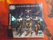 Quake III arena Sega DreamCast Manual instruction booklet NO GAME!!!