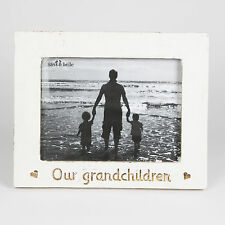 Shabby Chic White 'Our Grandchildren' Photo Frame Single Country Chic Family