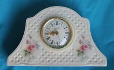 Rose Blarney Clock - Irish Parian Donegal China Desk Size Made in Germany