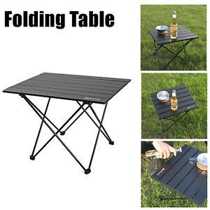 Folding Mini Aluminum Camping Table Lightweight BBQ Picnic Beach Desk Portable