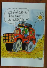 HUMOUR PARIS DAKAR VERGLAS SABLE 4X4    postcard