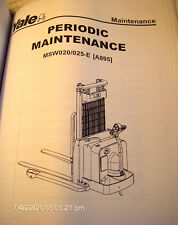YALE Literature Packet MSW020-025E (A895) Lift Truck Maintenance & Diagrams #853