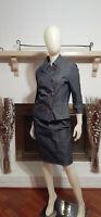 ETCETERA 2-Piece Charcoal Denim Skirt Suit-Size 8/6