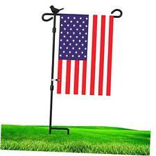 Garden Flag Holder Stand Flagpole with Bird Garden Flag Stopper Bird-1 Flag