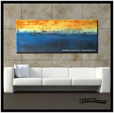 ABSTRACT Painting CONTEMPORARY Modern Canvas WALL ART Large Framed US ELOISExxx