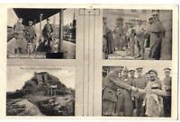 """Feldpost 1. Weltkrieg, """"Great War"""", vier Szenen aus dem Kriegsalltag, 19.01.1916"""