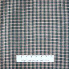 Rustic Woven Fabric - Real Homespun Dark Green Plaid - Textile Creations YARD