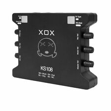 Mini 2 Channel XOX KS108 USB Mixer Audio interface for online karaoke