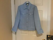 Women's Light Blue Harve Benard Blazer Size 8 (NWT)