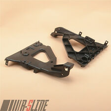 A Pair Of Front Bumper Guide on Fender Mount Bracket For AUDI A6 C6 4F / S-line
