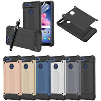 Hybrid Rugged Armour ShockProof  Rugged Dual Layer Cover For Huawei P Smart Case