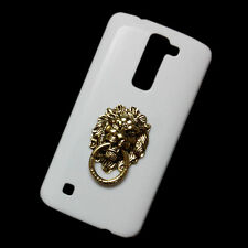Back Cover Case for Various Phones Fashion Bronze Lion Head Ring Stand Pattern