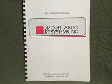 Mid-Atlantic RF Systems Products Catalog 1996