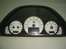 USA AMG GAUGE FACE OVERLAY COMBO 2000-03 MERCEDES W208 CLK 2002 2001 FREE SHIP!