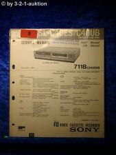 Sony Service Manual SL C40ES /C40UB 711 B Chassis Video (#0006)