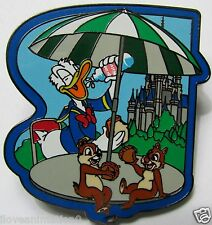 Disney Cast Member Pin Party Backstage Pass Series Donald Duck Chip & Dale Pin