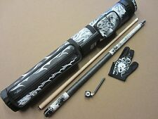 Action Eight 8 Ball Mafia EBM06 Gift Set Pool Cue 2x2 Case Glove Chalker